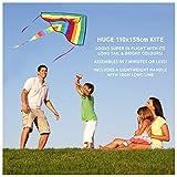 Huge Rainbow Kite For Children, Kids, Girls, Boys & Toddlers