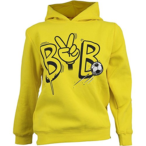 BVB 09 Borussia Dortmund KIDS Hoody (140, gelb) - 09 Hoody