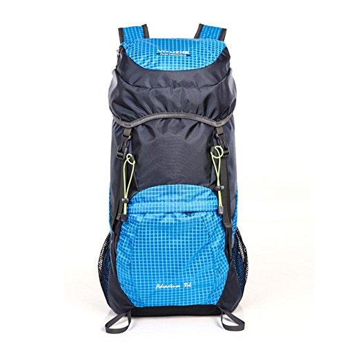 35L nylon impermeabile unisex escursione di campeggio esterno Arrampicata Alpinismo zaino pieghevole Viaggi Sport Borse , black Blue