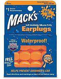 Macks - 3 Packs de 6 Bouchons d'Oreilles Piscine pour Enfants