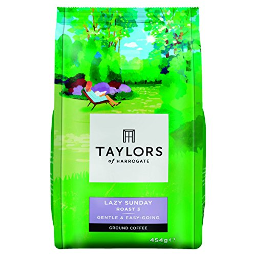 Taylors of Harrogate Lazy Sunday Medium Roast Ground Coffee 454 g (Pack of 4)