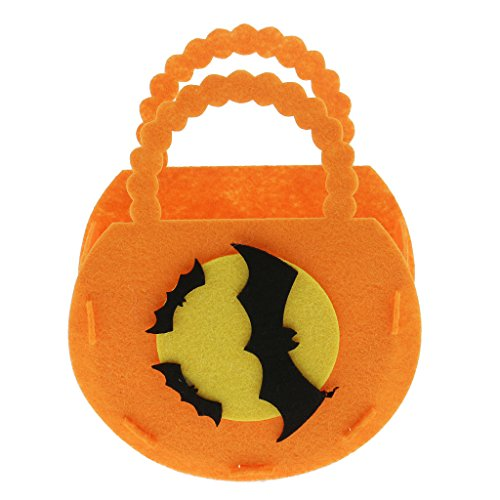 Gazechimp DIY Handtasche aus Filz für Halloween Allerheiligen Kostüm, Perfekt als Mini Süßigkeiten Tasche für Kinder ( 13,5 * 12,5 * 17,5 cm) - # (Zu Kostüme Einfach Halloween Montieren)