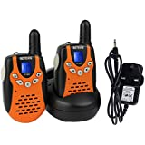 Retevis RT-602 Kid Walkie Talkie PMR446 Rechargeable Battery Two Way Radio for Children(Orange,1 Pair)
