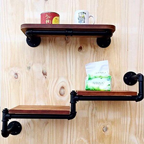 Retro Industrial Style Regal Eisen Wasserpfeife Multifunktions Wandbehang Wohnzimmer Regal Ein Wort Regal Wandhalterung Ablage (Wandhalterung Mikrowelle Regal)