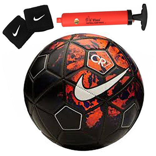 Larjonna Nike CR7 replica Red/Black Football. Size-5  available at amazon for Rs.622