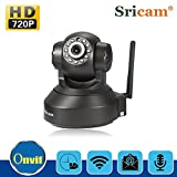 Sricam HD night vision 720P surveillance Monitor full-duplex speech 360° rotary body