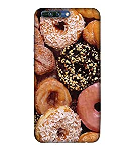 PrintVisa Designer Back Case Cover for Honor 8 Pro (chocolaty Coconut Yummy Tasty Cookies)