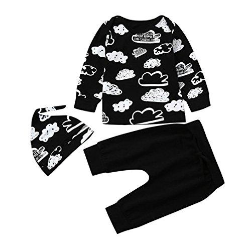 Jungekleidung Set, Sonnena Baby Kleikind Junge Kurzarm Gentleman Krawatte Shirt Hemd Tops + Bib Pants Hosen Outfit Set Sommer Tägliche Baumwolle Babykleidung für 1-3 Jahre (1 Jahre, Schwarz 4)