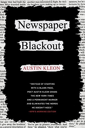 Newspaper Blackout por Austin Kleon