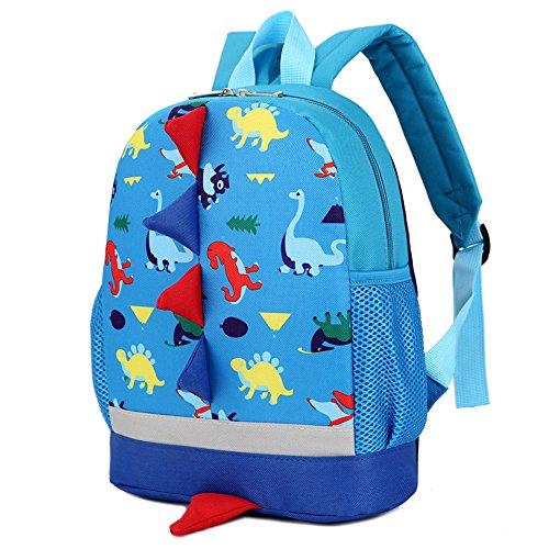Imagen de dafenq 3d dinosaurio  infantil niño  escolares juveniles dinosaurio patrón animales guardería  viaje bolsos primaria bolsa de la escuela azul  alternativa