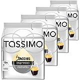 Tassimo T-Discs Jacobs Espresso Ristretto, Rainforest Alliance Vérifié, Lot de 4, 4 x 16 T-Discs