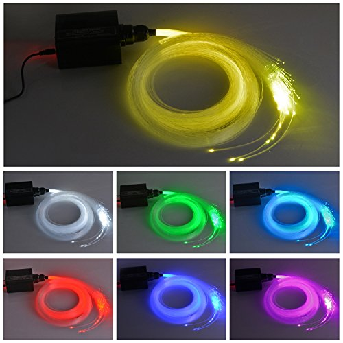 - Faser (Faser-Licht-Installationssatz, 16W RGBW Stern-Decken-Installationssatz-Licht, mit 150pcs 0.75mm 2m optische Fasern + 28key Fernbedienung, für Decken-sensorische Raum-Höhle)