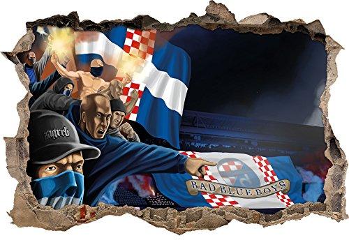 Ultras Kroatien Bad Blue Boys, 3D Wandsticker Format: 62x42cm, Wanddekoration