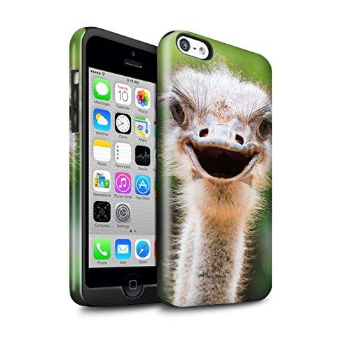 STUFF4 Glanz Harten Stoßfest Hülle / Case für Apple iPhone 7 Plus / Faultier Muster / Wilde Tiere Kollektion Strauß / Emu