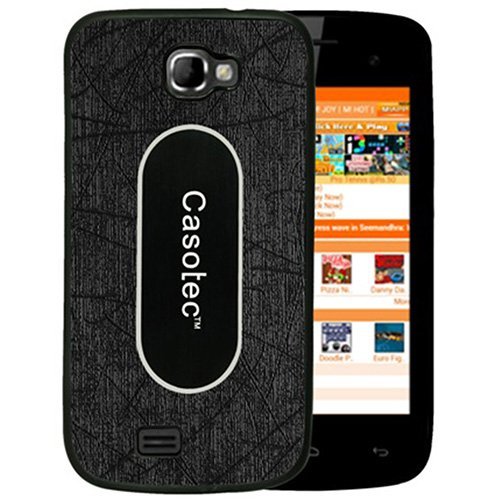 Casotec Metal Back TPU Back Case Cover for Micromax Canvas Engage A091 - Black  available at amazon for Rs.149