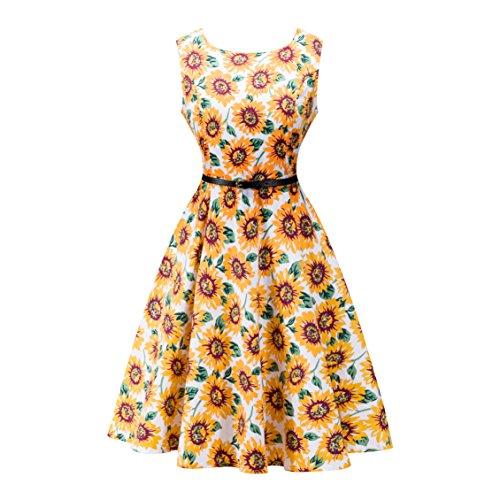 Kleider, Damen A-Linie 50er Vintage Abendkleid Rockabilly Kleid Knielang Festliches Pin Up Kleid Partykleider Cocktailkleider (42, 10) (60er-jahre-stil Für Frauen)