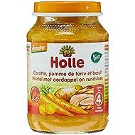 Holle Petit Pot Carotte Pommes de Terre et Boeuf 190 g