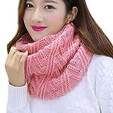 Colorful(TM) Neu - Frauen Warm Stricken Hals Kreis Kopftuch Haarnetz Mehrzweck - Schal Für Herbst/Winter (Rosa)