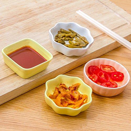 Yuwanw giapponese salsa stoviglie piattino in ceramica, domestici condimenti piatto piatto piatto piccolo caidie creative tapas in osso, caring condimento piatto arancione polvere