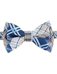 Retreez elegante Tartán De Cuadros Escoceses tejido microfibra PRE-TIED Boy 's lazo