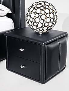 Table de chevet cuir(pu) design model SILVIA(noir)