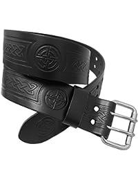 Cinturón de herramientas para kilt escocés con hebilla - Nudo celta negro
