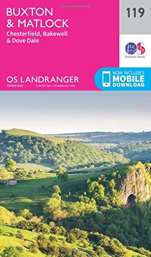 landranger-119-buxton-matlock-chesterfield-bakewell-dove-dale-os-landranger-map