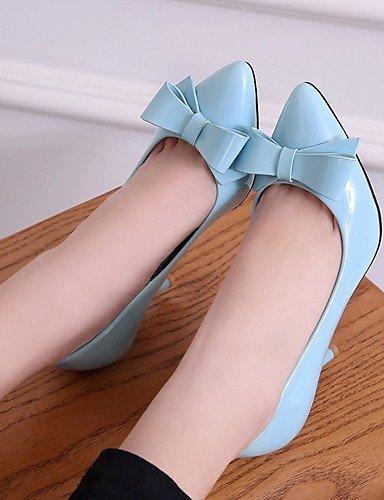 WSS 2016 Chaussures Femme-Bureau & Travail / Habillé / Décontracté-Bleu / Rose / Beige-Gros Talon-Talons-Talons-Similicuir blue-us11 / eu43 / uk9 / cn44