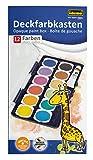 Idena 22061 - Deckfarbkasten mit 12 Farben und 1 Tube Deckweiß
