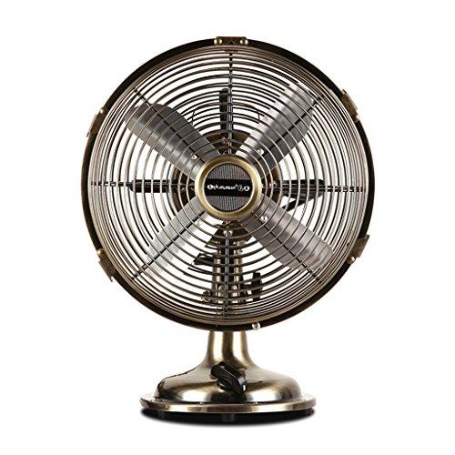 GS-Cooling Appliances GUO@ Tischventilator Retro Metal Fan Bronze Elektrischer Ventilator Tischventilator Mini Desktop Compact Fan Lüfter für Klimaanlage (Farbe : Bronze, größe : 29 * 36cm) -