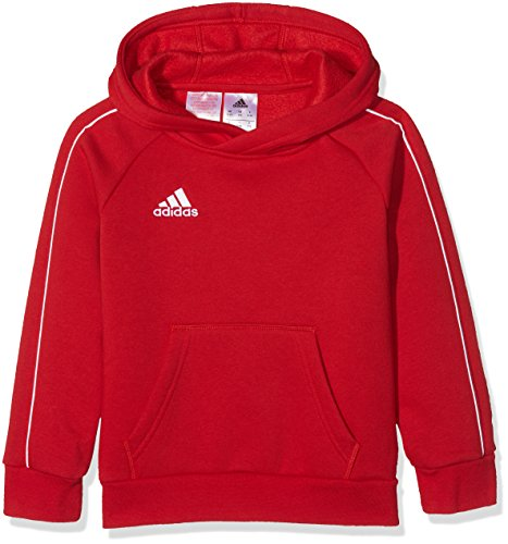 adidas Kinder Core 18_cv3431 Hoodie Sweatshirt, Rot (Power Red/White), 128