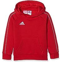 adidas Core18 Hoody Y, Felpa Unisex Bambini, Rosso (Power Red/White), 164