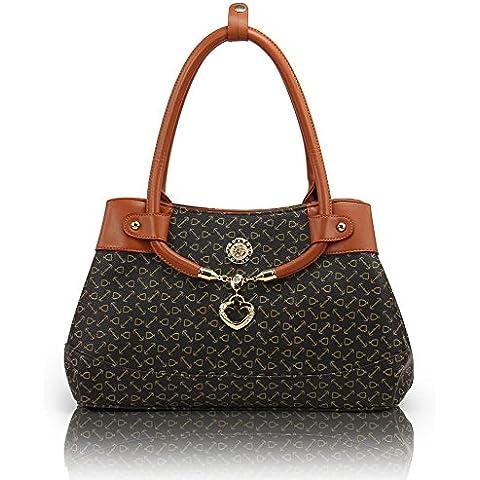 Recoc bolso de cuero genuino mujeres de lujo mujeres bolso moda de mujer bolsas de marcas de fábrica famosas bolsos mujeres