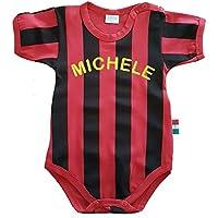 Zigozago - Body Spielanzug Baby mit schwarzen und roten Streifen MILAN - 100% Baumwolle