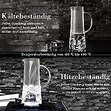 MUHOO Glas Krug 1,5L Glaskaraffe mit Deckel Glas Karaffe Wasserkrug aus Borosilikatglas Wasserkaraffe Wasserkrug Glaskaraffe Getränkekaraffe - 6