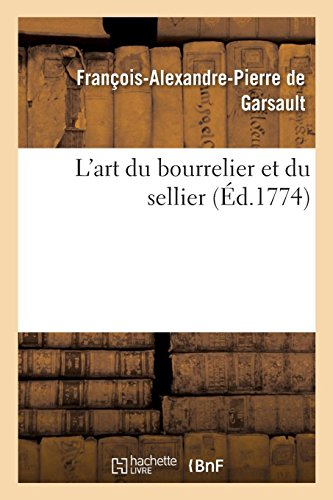 L'art du bourrelier et du sellier