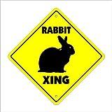SignMission Kaninchenkreuzendes Schild Zone Xing, für drinnen und draußen, 35,6 cm hoch 12