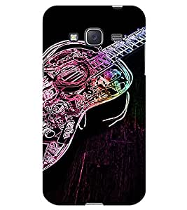 Chiraiyaa Designer Printed Premium Back Cover Case for Samsung Galaxy J3 (guitar music typography shine) (Multicolor)