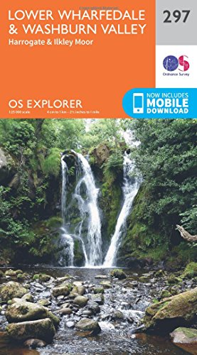Price comparison product image OS Explorer Map (297) Lower Wharfedale and Washburn Valley (OS Explorer Paper Map) (OS Explorer Active Map)