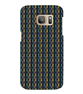 Zig Zag Lines 3D Hard Polycarbonate Designer Back Case Cover for Samsung Galaxy S7 Edge :: Samsung Galaxy S7 Edge Duos G935F