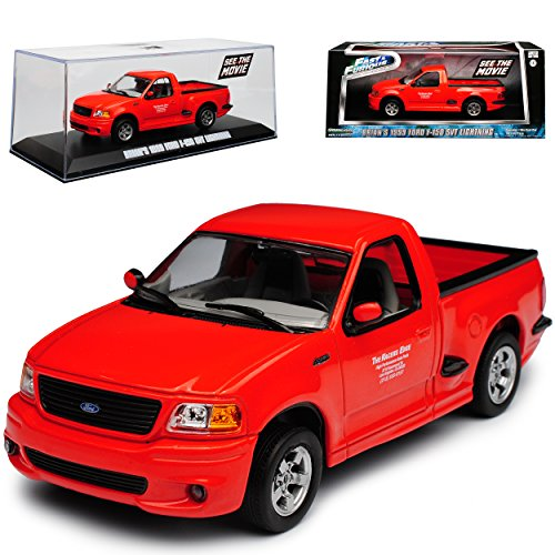 alles-meine.de GmbH Ford F-150 SVT Lightning Pick-up Rot The Fast and The Furious Brian O´Connor Paul Walker 10. Generation 1996-2004 1/43 Greenlight Modell Auto mit individiuellem Wunschkennzeichen