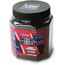 Crosman Softair BB 5000ct Ultra heavy .25g BBs - Balines de plástico para airsoft ( 6 mm ), color negro, talla única