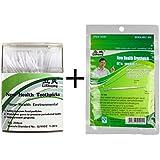 Fcclss Dental Hilo Dental brushpicks de limpiar, ambiental PP palillos de incienso 250pcs con bolsa de portátil estuche higiénico con recarga 100pcs