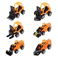 Vivitoch New 6Pcs/Set Mini Alloy Engineering Car Model Tractor Dump Truck Model Education Toy Vehicles Gift for Boys
