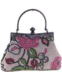 095c921d5e Zlulu Cabas Femme Sac À Main Femme Style Ethnique Classique Impression  Portable Portable Sac De Perles