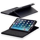 Sharon iPad 2017 iPad Air iPad 5 Tastatur Tasche mit integrierter Bluetooth Tastatur (deutsches Layout), Schutzhülle für iPad Air