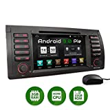 XOMAX XM-71BA Autoradio mit Android 9 passend für BMW E39 5er M5, E53 X5, 4Core, GPS Navigation, DVD, CD I Support: WiFi, 4G, DAB+, OBD2 I Bluetooth, 7 Zoll/18 cm Touchscreen, USB, SD