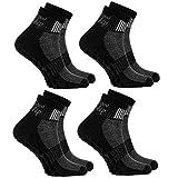 4 Paar schwarze Anti-Rutsch-Socken mit ABS-System, ideal für solche Sportarten,wie Joga,Fitness,Pilates,Kampfkunst,Tanz,Gymnastik,Trampolinspringen.Größen von 42 bis 43,atmende Baumwolle