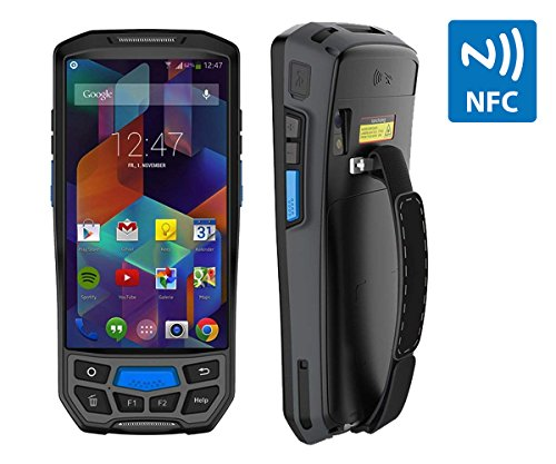 Price comparison product image Upgraded 3.03G 4G Rugged Handheld Android 7.0 POS Terminal MUNBYN with Touch Screen Bluetooth GPS NFC and 2D Honeywell Barcode Scanner for 1D QR PDF417