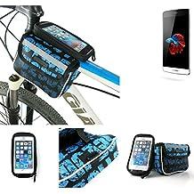 Bolso Bolsa Funda Bicicleta para TP-LINK Neffos C5, Funda Móvil soporte tubo Bici, azul, Impermeable Resistente al Agua - K-S-Trade(TM)